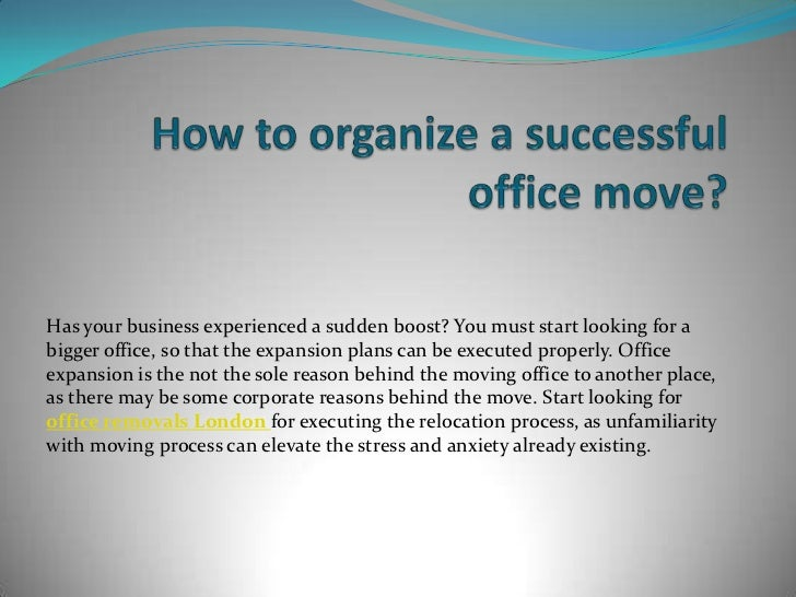 How to organize a successful office move