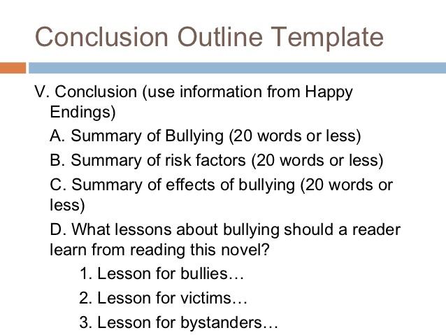 strong concluding sentences