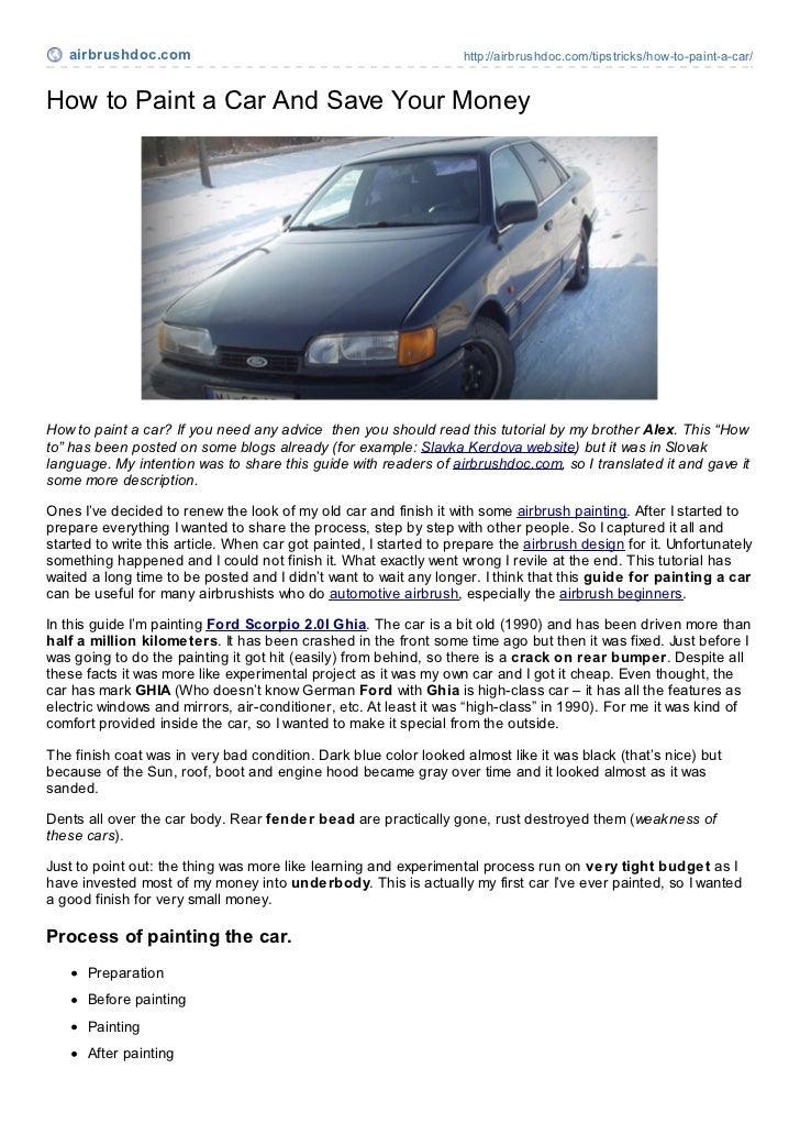 airbrushdoc.com                                                 http://airbrushdoc.com/tipstricks/how-to-paint-a-car/How t...