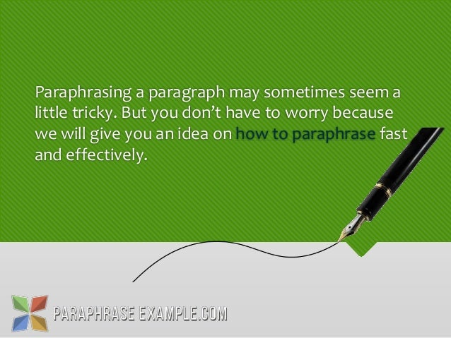 How to paraphrase a website