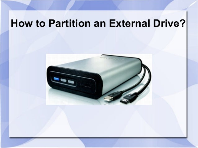 How to Partition External Drive?