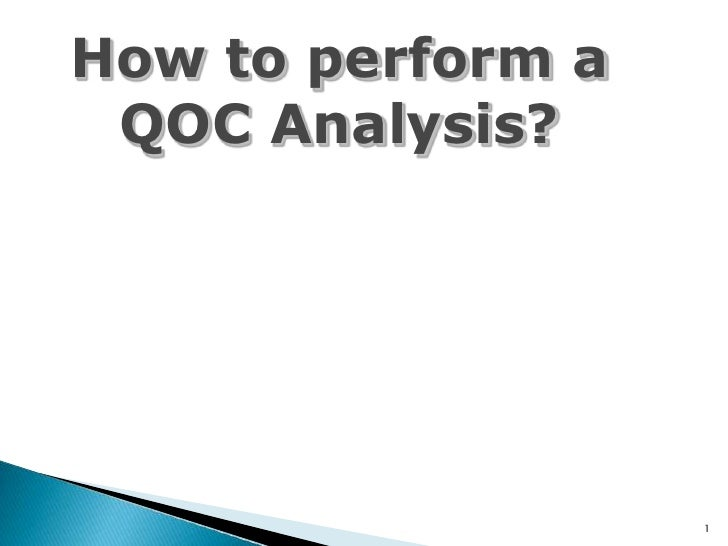How to perform a qoc analysis