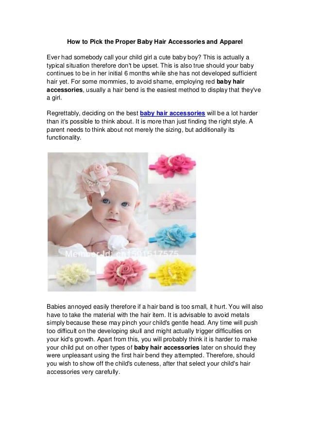 How to pick the proper baby hair accessories and apparel