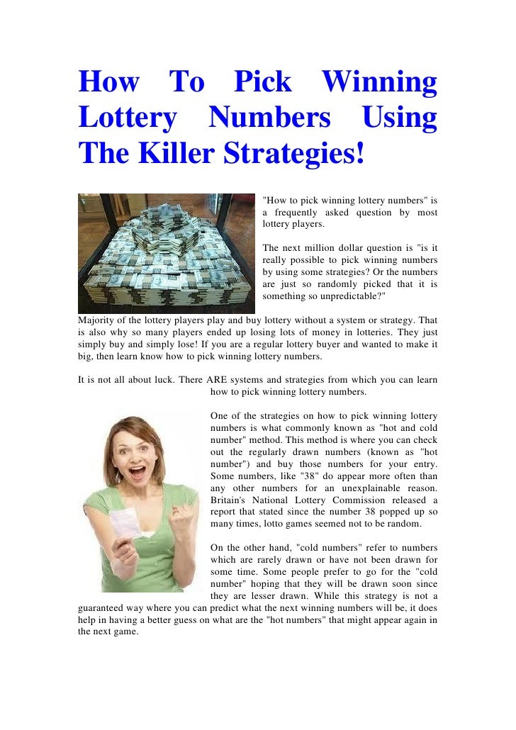 How to check winning lottery numbers