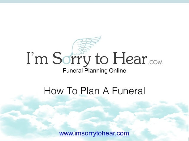 How To Plan A Funeral