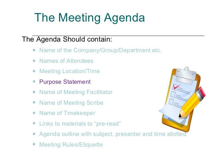 company meeting agenda