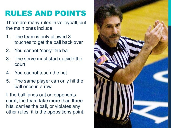 rules of volly ball