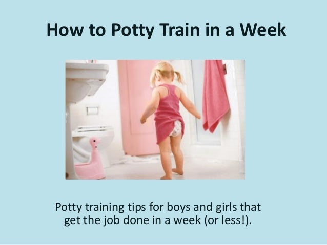 How to potty train in a week