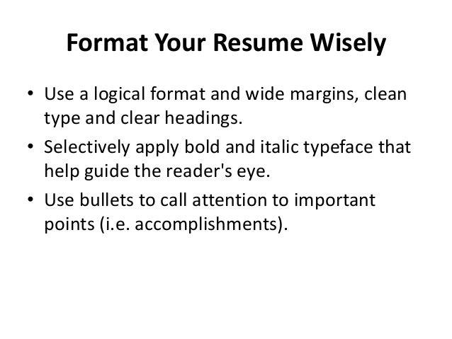 How to prepare effective resume