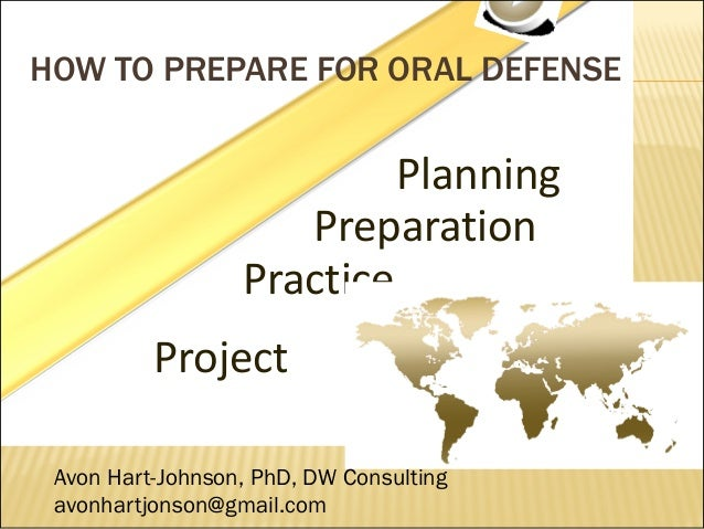 oral defense of dissertation proposal