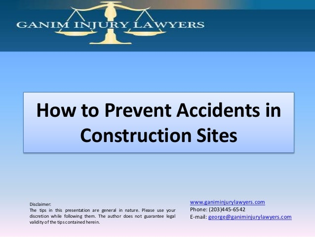 How to prevent accidents in construction sites