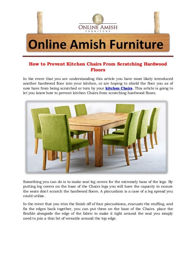How To Prevent Kitchen Chairs From Scratching Hardwood Floors