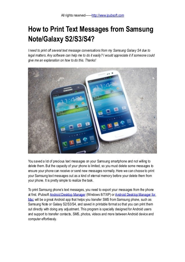 Text Message Samsung Galaxy Note 4
