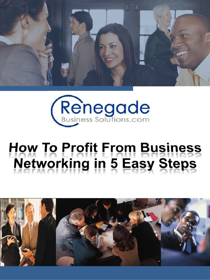 Most business people network with the end goal being profit of some kind. Whether it is a sale for their business or the c...
