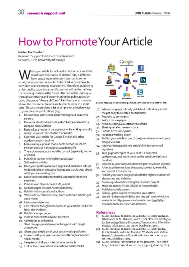 How to Promote Your Article