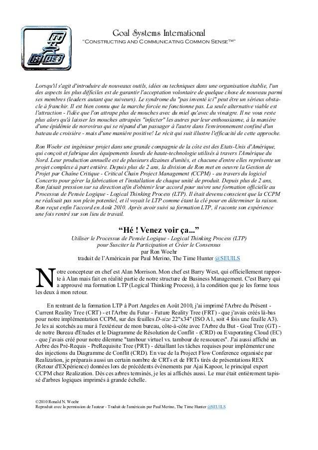 Comment Promouvoir le Processus de Pensée Logique (LTP) par l'Approche Norovirus - FR