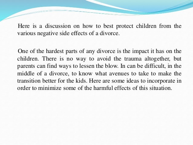 long term impact of parental divorce essay The effect of parental divorce on young adults' romantic relationship  to have successful long-term  variation in the impact of parental divorce on.