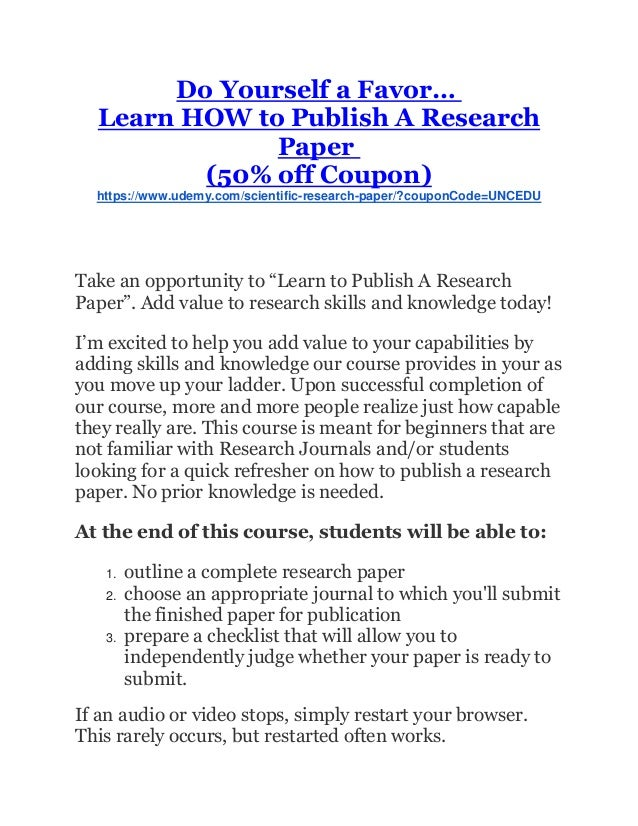 publishing a research paper Ijser is an open access international journal or a large number of high quality and peer reviewed research publishing in all the fields of science, engineering and.
