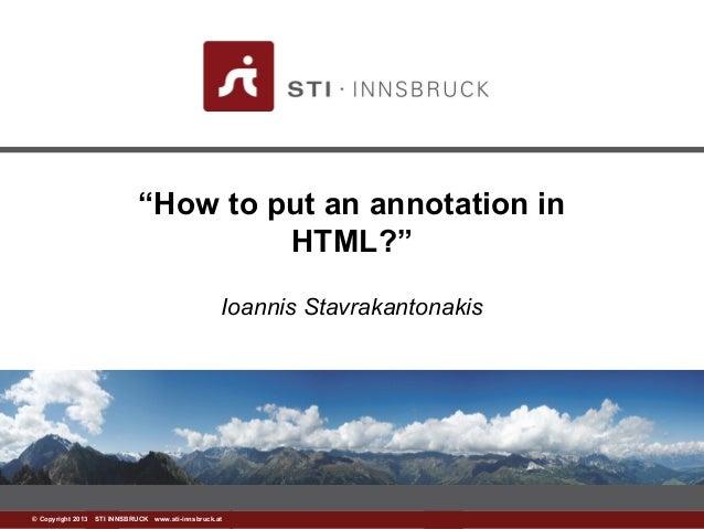 Html annotation