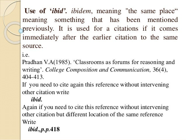 What Does Ibid Mean In A Research Paper - image 2