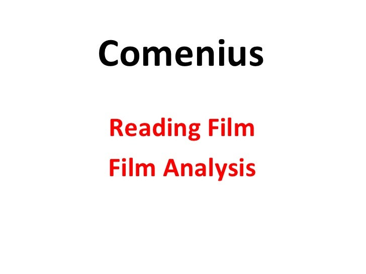 Comenius Reading Film Film Analysis