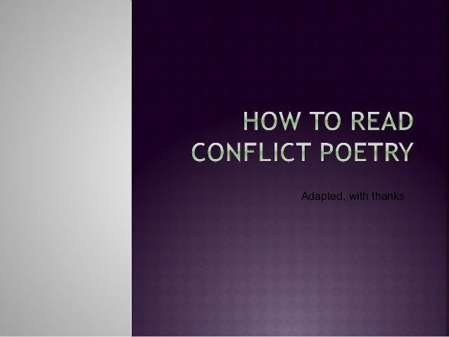 How to read_a poem_war poetry