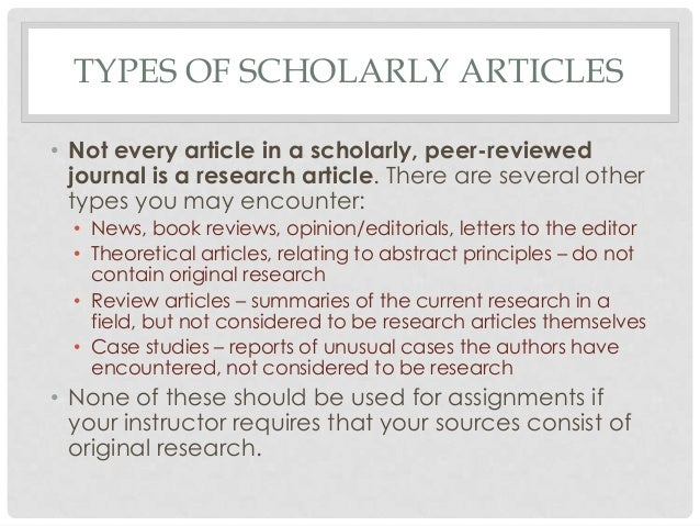 original research articles peer reviewed journals