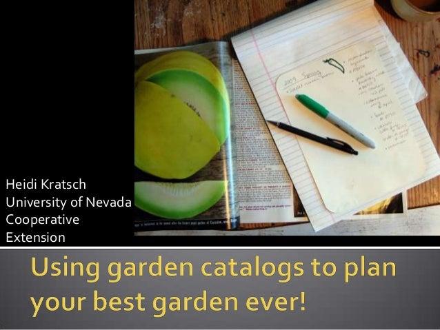 Heidi KratschUniversity of NevadaCooperativeExtension