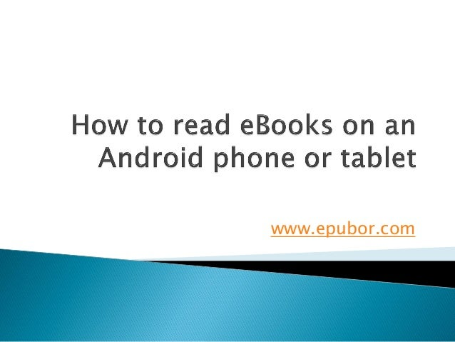 How to read e books on android