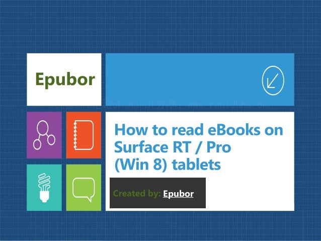 How to read eBooks on MS Surface RT / Pro tablets