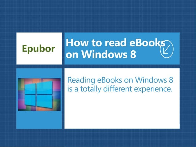How to read eBooks on Windows 8