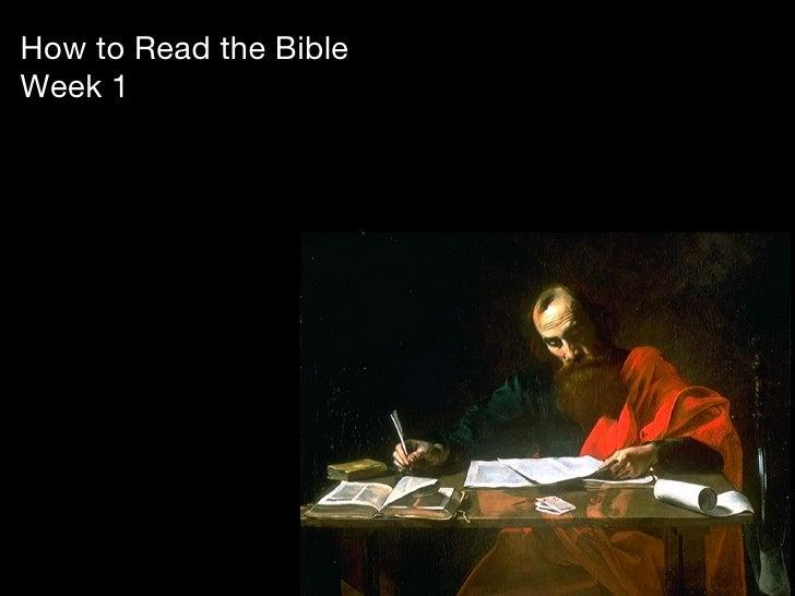 How to Read the BibleWeek 1