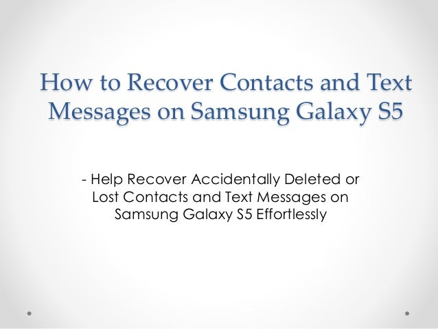 Text Message Galaxy S5
