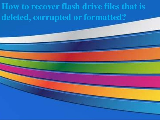 how to update files on a flash drive