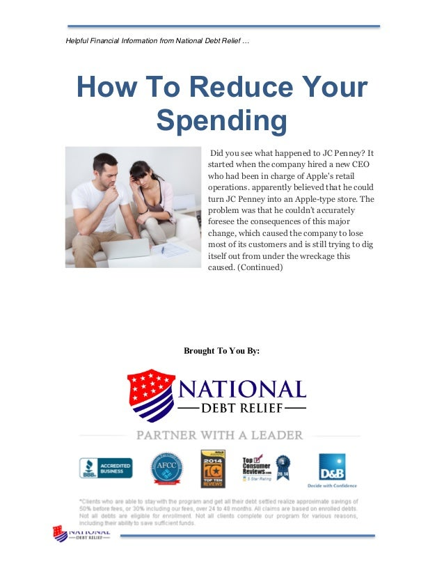 How To Reduce Your Spending