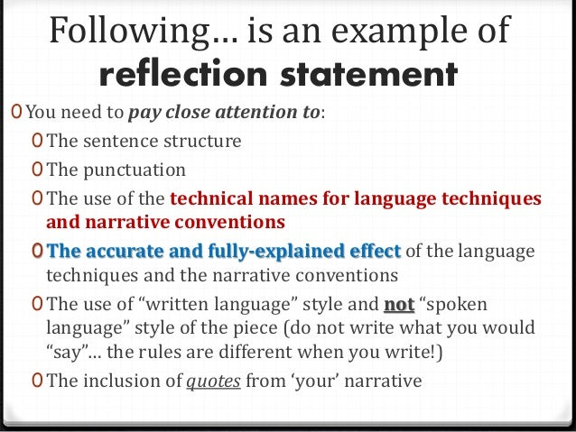 rules writing a reflective essay A basic guide on how to write a great reflective essay.