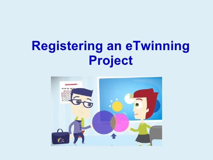 Registering an eTwinning project