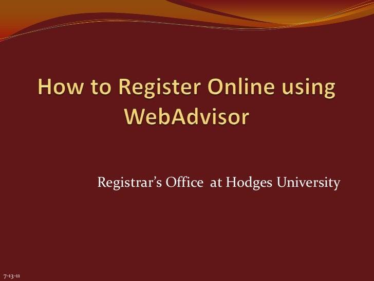Registrar's Office at Hodges University7-13-11