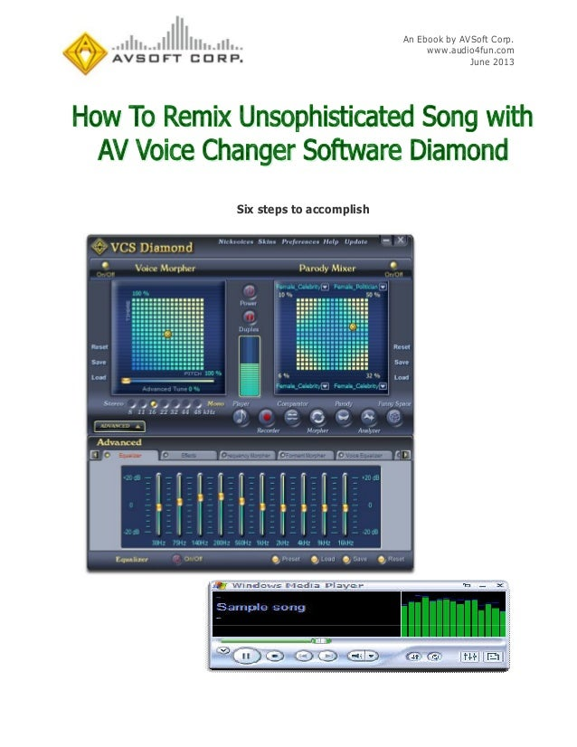 How To Remix Unsophisticated Song With AV Voice Changer Software Diamond