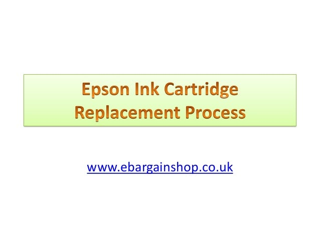 How to replace your epson ink cartridges