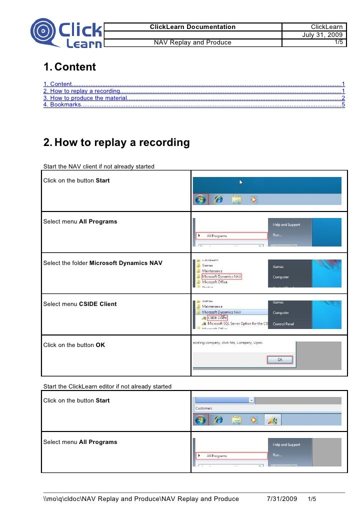 How To Replay And Produce Documentation For Dynamics Nav