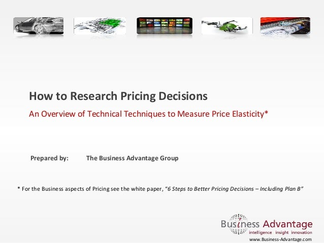 Paper: How to research pricing decisions | Business Advantage
