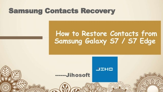 how to delete contacts galaxy s7