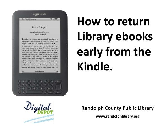 How to return Library ebooks early from the Kindle