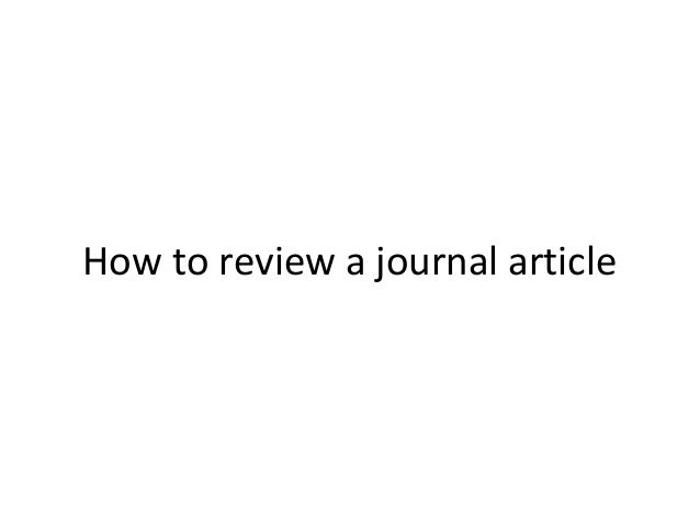 Review article journal