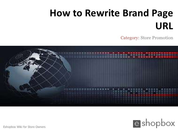 How to rewrite brand page url