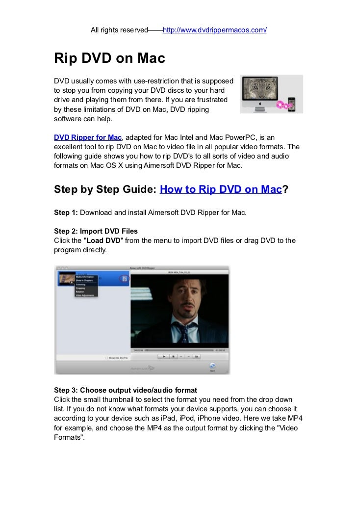 How to rip dvd on mac