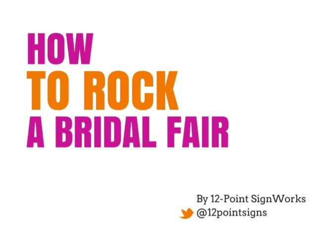 How to Make Your Booth Rock at a Bridal Fair!
