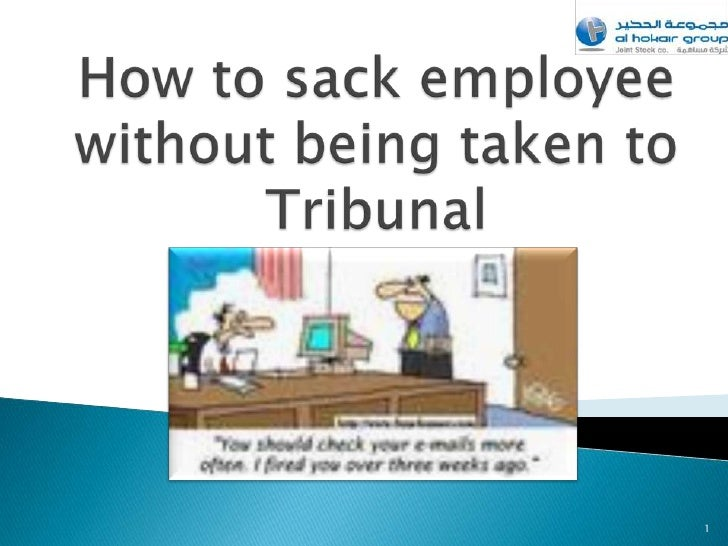 How to sack employee