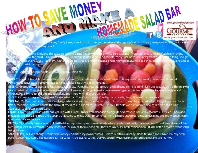 How to save money and make a homemade salad bar